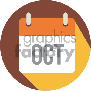 october calendar vector icon clipart. Royalty-free image # 404002