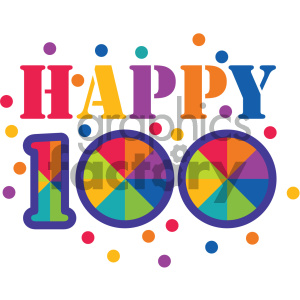 happy 100 days of school clipart. Commercial use image # 404026