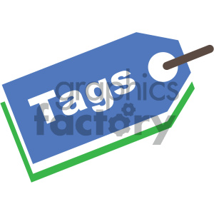 SEO keyword tags vector icon clipart. Royalty-free image # 404053