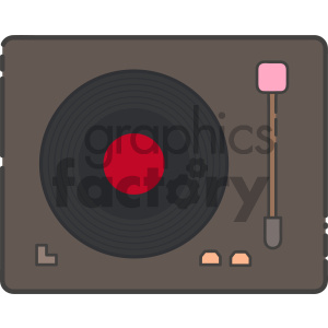 cartoon art record+player music record vinyl
