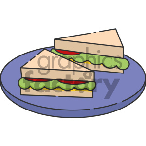 Sandwiches vector art clipart. Royalty-free image # 404131