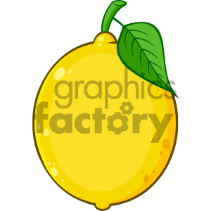 Royalty Free RF Clipart Illustration Yellow Lemon Fresh Fruit With Green Leaf Cartoon Drawing Vector Illustration Isolated On White Background clipart. Royalty-free image # 404310