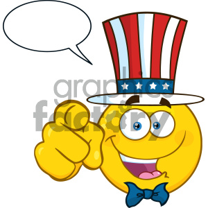 smilie cartoon funny smilies vector yellow USA america uncle+sam you chat