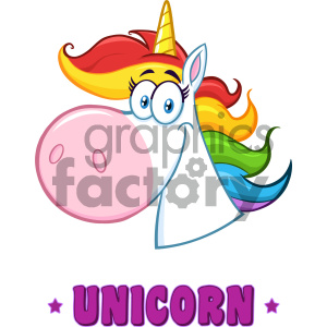 Clipart Illustration Smiling Magic Unicorn Head Cartoon Mascot Character Vector Illustration Isolated On White Background With Text 1 clipart. Royalty-free image # 404589
