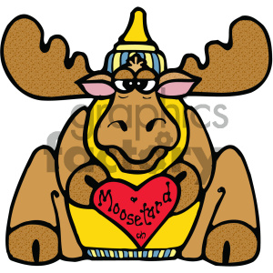 cartoon clipart moose 014 c clipart. Commercial use image # 404775