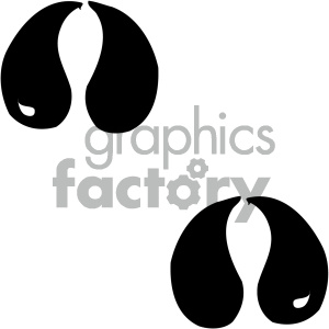 cartoon clipart animal tracks 002 bw clipart. Commercial use image # 404781