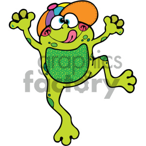 cartoon clipart frog 006 c clipart. Royalty-free image # 404791