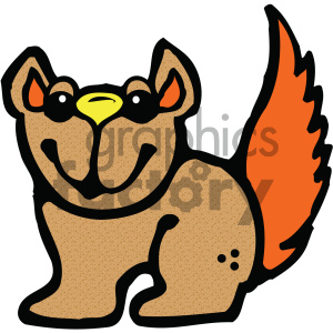cartoon clipart Noahs animals squirrel 008 c clipart. Commercial use image # 404821