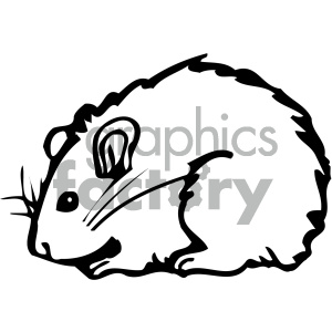 cartoon clipart mouse 011 bw clipart. Royalty-free image # 404835