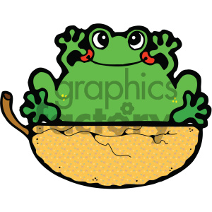 cartoon clipart frog 014 c clipart. Royalty-free image # 404839