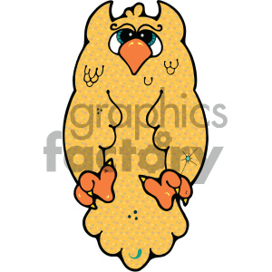 cartoon clipart yellow owl 004 c clipart. Royalty-free image # 404875
