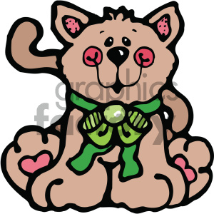 cartoon clipart cat 001 c clipart. Royalty-free image # 404885