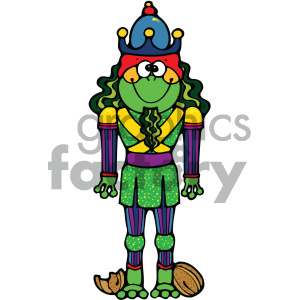 cartoon clipart frog 019 c clipart. Royalty-free image # 404895