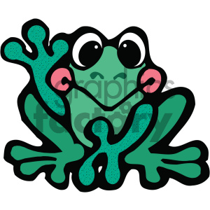 cartoon clipart frog 017 c clipart. Royalty-free image # 404965
