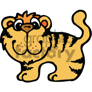 cartoon clipart Noahs animals tiger 001 c clipart. Royalty-free image # 404991