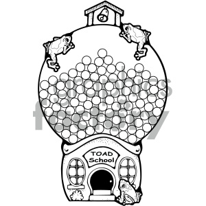 school gumball machine clips 001 bw clipart. Royalty-free image # 405017