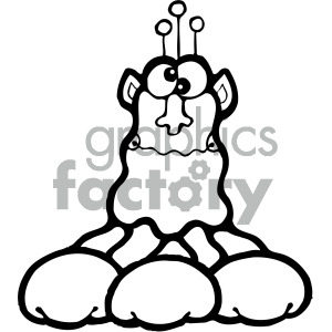 vector art martians 003 bw clipart. Commercial use image # 405057