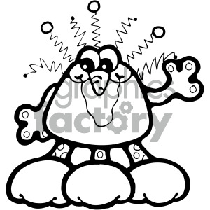 vector art martians 002 bw clipart. Commercial use image # 405063