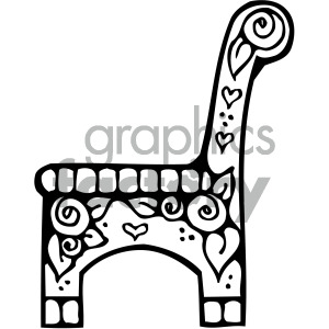 black white chair art clipart. Royalty-free image # 405128