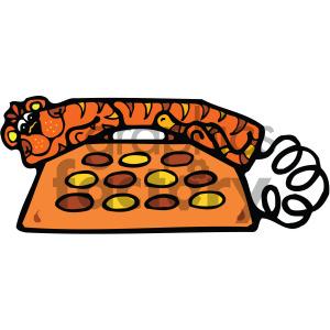 cartoon retro telephone