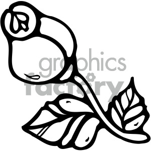 rose black white image clipart. Commercial use image # 405196