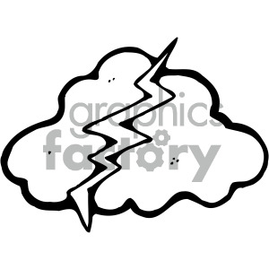storm cloud outline clipart. Royalty-free icon # 405228