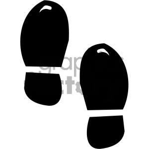 black and white foot tracks clipart. Commercial use image # 405308