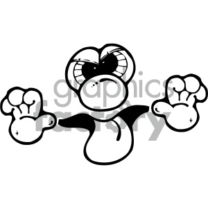 black and white cartoon face sticking tongue out clipart. Royalty-free image # 405341