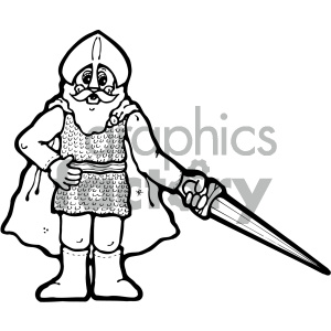 black and white knight art clipart. Commercial use image # 405365