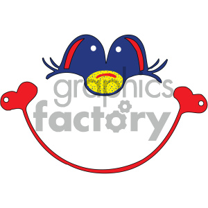 happy face vector art clipart. Commercial use image # 405376