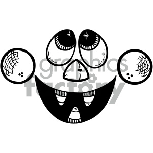black and white scary cartoon face clipart. Royalty-free image # 405377