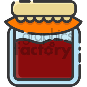 jelly jar vector royalty free icon art clipart. Commercial use image # 405387