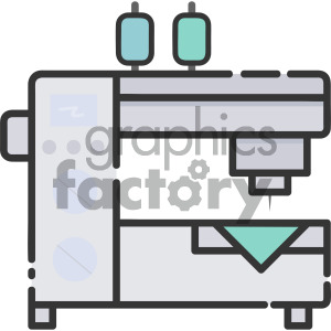 sewing machine vector royalty free icon art clipart. Royalty-free image # 405390