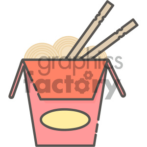 noodle box vector royalty free icon art clipart. Royalty-free image # 405400