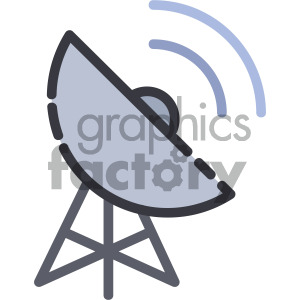 radar dish vector royalty free icon art clipart. Royalty-free image # 405416