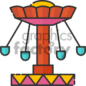 funfair swing vector royalty free icon art clipart. Commercial use image # 405419
