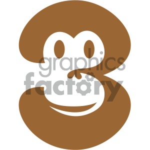 monkey design vector icon