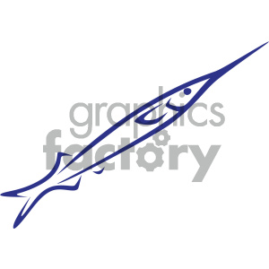 swordfish vector icon clipart. Commercial use image # 405498