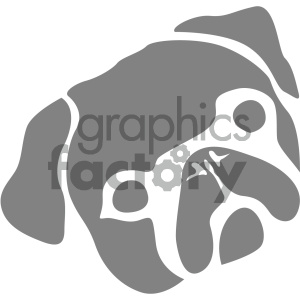 vector pug dog icon clipart. Commercial use image # 405518