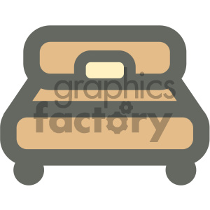 bedroom bed furniture icon clipart. Royalty-free image # 405659