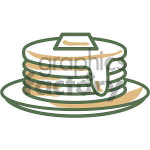 pancakes food vector flat icon design clipart. Commercial use icon # 405724