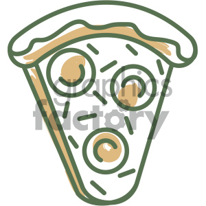 slice of pizza food vector flat icon design