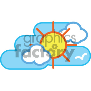 sunny summer day nature icon clipart. Commercial use icon # 405744