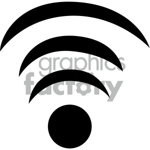 wifi wireless signal vector flat icon clipart. Commercial use icon # 405788