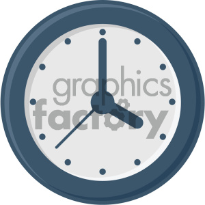 clock vector flat icon clipart. Royalty-free icon # 405791