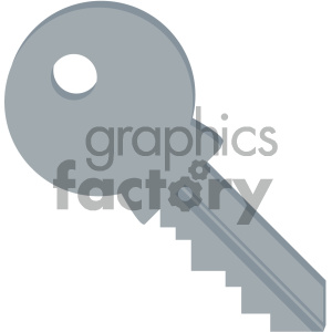 key vector flat icon