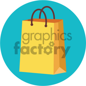 shopping bag circle background vector flat icon clipart. Royalty-free image # 405828