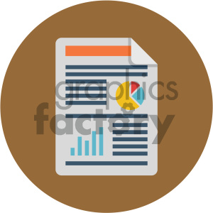 flat+icon icons document paper profit+loss business statistics