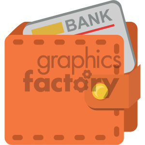wallet with credit card vector flat icon clipart. Royalty-free image # 405873