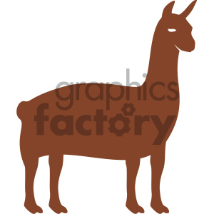 llama vector art clipart. Royalty-free icon # 405891